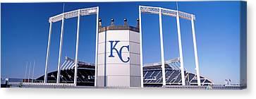 Baseball Stadium, Kauffman Stadium Canvas Print by Panoramic Images