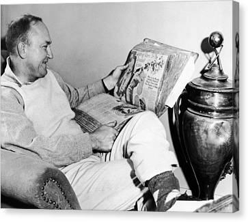 Ty Cobb Canvas Print - Baseball Star Ty Cobb by Underwood Archives