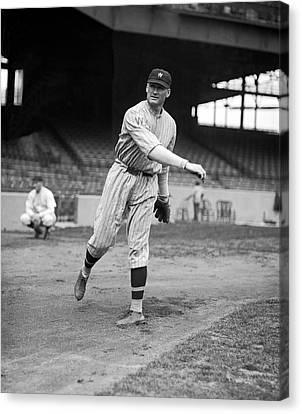 Baseball Star Walter Johnson Canvas Print by Underwood Archives
