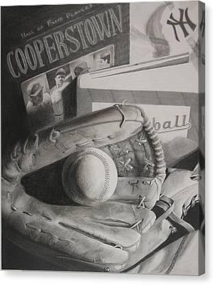 Baseball Still Life Canvas Print by Melissa Unruh