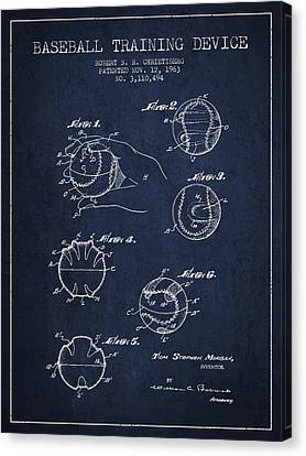 Baseball Training Device Patent Drawing From 1963 Canvas Print