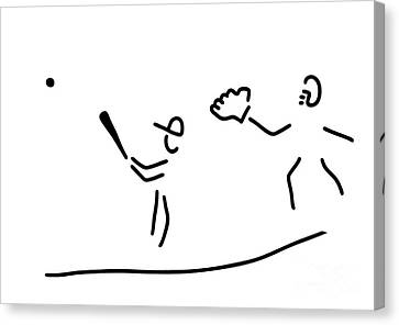 Baseball Usa Sport Canvas Print by Lineamentum