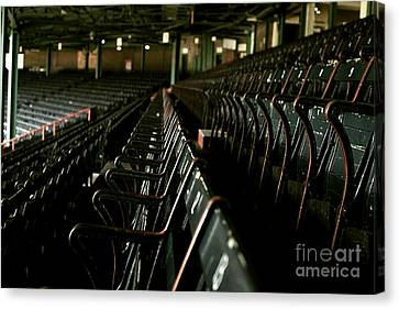 Baseball's Classic Bostons Fenway Park Seats Canvas Print by Doc Braham