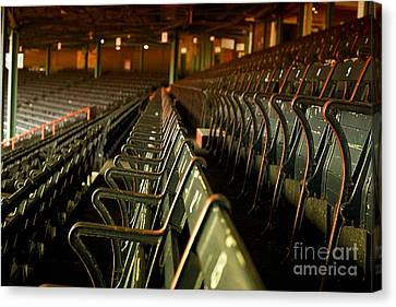 Baseball's Classic Bostons Fenway Park Vintage Seats Canvas Print by Doc Braham
