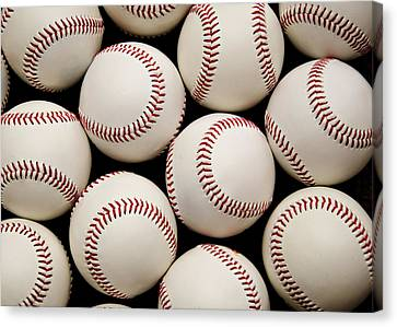 Baseballs Canvas Print by Ricky Barnard