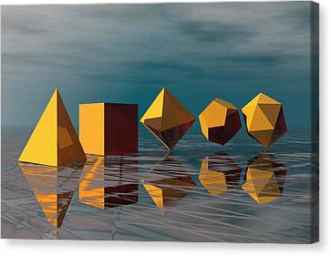 Platonic Canvas Print - Basic Geometric Solids by Carol & Mike Werner