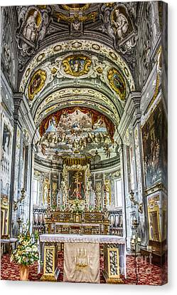 Byzantine Canvas Print - Basilica Di San Giorgio Fuori Le Mura by Traven Milovich