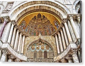 Basilica Di San Marco Canvas Print by Delphimages Photo Creations