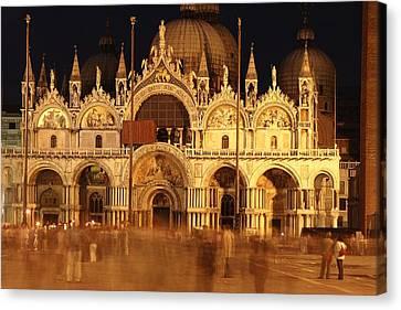 Byzantine Canvas Print - Basilica Di San Marco by George Buxbaum