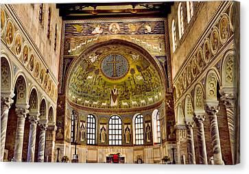 Basilica Di Sant'apollinare Nuovo - Ravenna Italy Canvas Print by Jon Berghoff