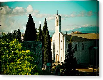 Basilica In Assisi  Canvas Print by Raimond Klavins