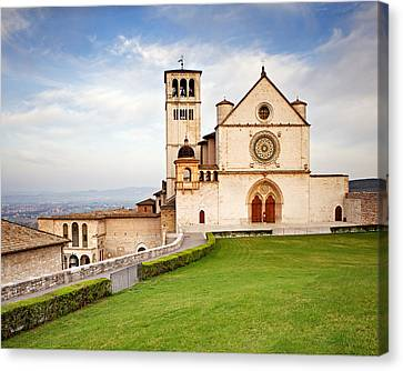 Basilica Of Saint Francis Canvas Print by Susan Schmitz