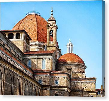 Basilica Of San Lorenzo Canvas Print by David Waldo
