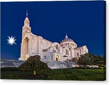 Basilica Of The National Shrine Of The Immaculate Conception Canvas Print by Susan Candelario