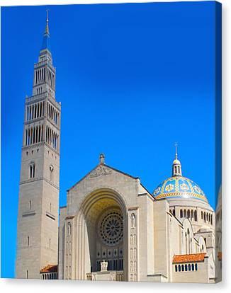 Jesus Canvas Print - Basilica Of The National Shrine by Art Spectrum