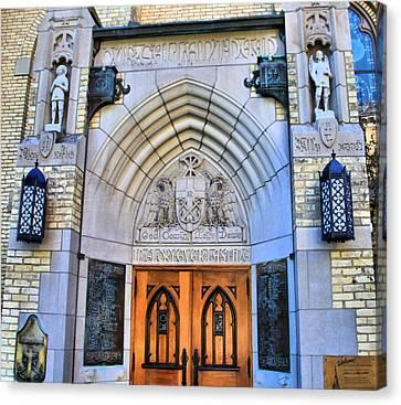 Basilica Of The Sacred Heart Entrance Canvas Print