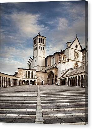 Basillica Of St Francis Of Assisi In Italy Canvas Print by Susan Schmitz