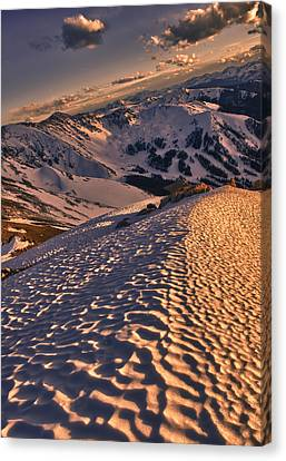 Colorado Captures Canvas Print - Basin From Above by Mike Berenson