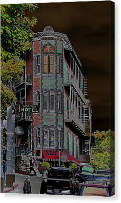 Basin Park Hotel Canvas Print by Jan Amiss Photography