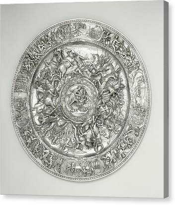 Genoa Canvas Print - Basin With Scenes From The Life Of Cleopatra After A Sketch by Litz Collection