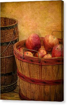 Basket Of Apples Canvas Print