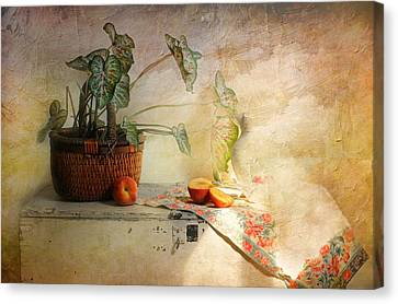 Basket Of Faith Canvas Print by Diana Angstadt