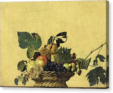 Basket Of Fruit Canvas Print by Caravaggio