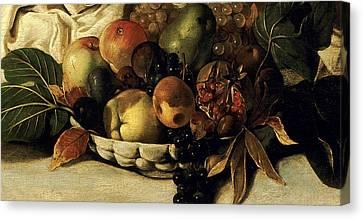 Basket Of Fruit Detail Bacchus Canvas Print