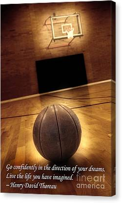 Basketball And Success Canvas Print by Lane Erickson