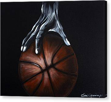 Basketball Legend Canvas Print by Dani Abbott