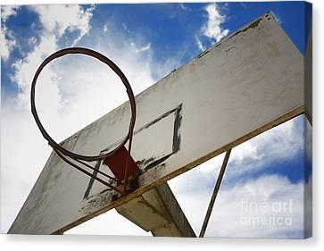 Basketball Hoop Canvas Print by Bernard Jaubert