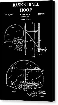 Basketball Hoop Patent Canvas Print by Dan Sproul