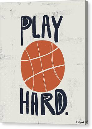 Basketball Canvas Print by Katie Doucette