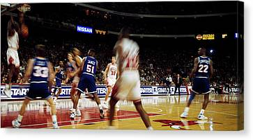 Basketball Match In Progress, Chicago Canvas Print
