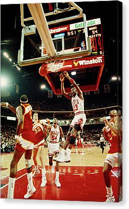 Michael Jordan Canvas Print - Basketball Match In Progress, Michael by Panoramic Images