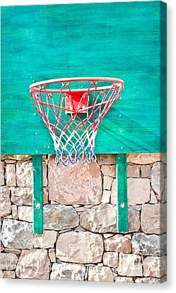Basketball Net Canvas Print by Tom Gowanlock