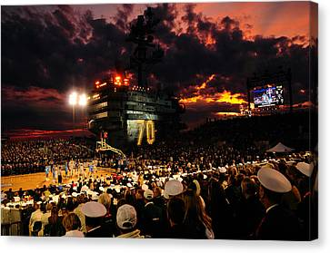 Basketball On A Carrier Canvas Print by Mountain Dreams