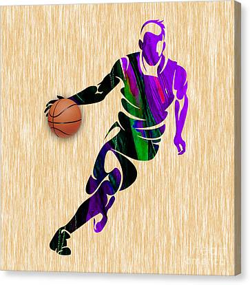 Basketball Player Canvas Print by Marvin Blaine