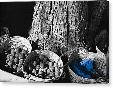 Canvas Print featuring the photograph Baskets by Cassandra Buckley