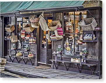 Baskets For Sale Canvas Print by Heather Applegate
