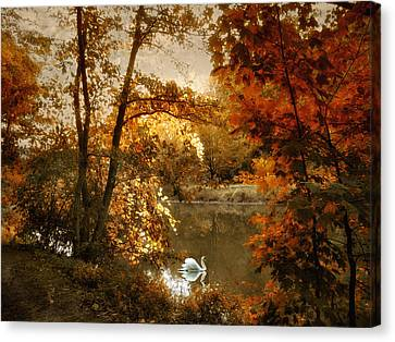 Basking In Autumn Canvas Print by Jessica Jenney
