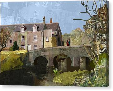 Baslow Bridge Canvas Print by Kenneth North