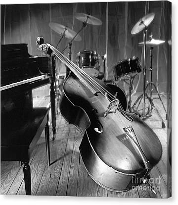 New Stage Canvas Print - Bass Fiddle by Tony Cordoza