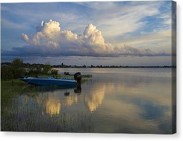 Bass Fishing Canvas Print by Debra and Dave Vanderlaan
