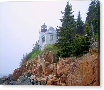 Bass Harbor Head Light Canvas Print by Gene Cyr