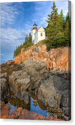 Bass Harbor Head Light IIi Canvas Print by Clarence Holmes