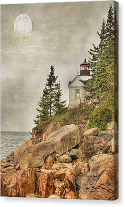 Bass Harbor Head Lighthouse. Acadia National Park Canvas Print by Juli Scalzi