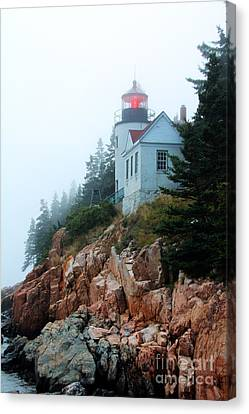 Canvas Print featuring the photograph Bass Harbor Head Lighthouse by Jemmy Archer