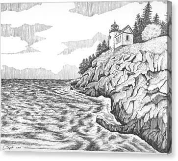 Bass Harbor Head Lighthouse Canvas Print by Lawrence Tripoli