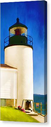 Bass Harbor Head Lighthouse Maine Canvas Print by Carol Leigh
